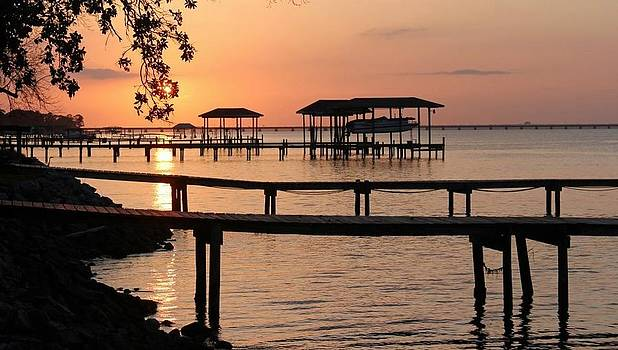 Gulf Breeze Sunset by Carol Oberg Riley
