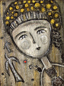 Gypsy girl Free the red balloon by Rosemary Lim