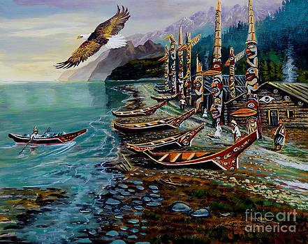 Haida Village by Denis Grosjean