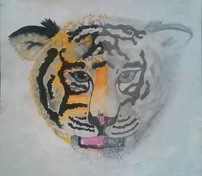Half And Half Tiger by Kendya Battle