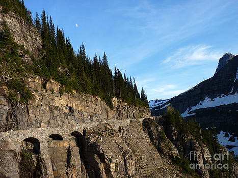 Half Moon And Three Arches In The Going To The Sun Road Glacier National Park USA by Aeris Osborne