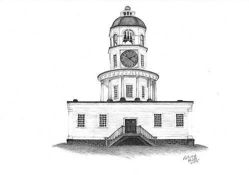 Halifax Town Clock by Patricia Hiltz
