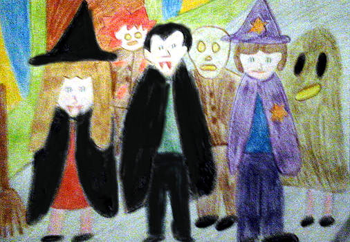 Halloweens Here by Julie Dunkley