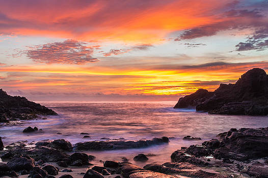 Halona Cove Sunrise 4 by Leigh Anne Meeks