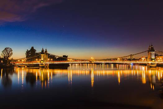 Hammersmith Bridge at night by Matthew Bruce