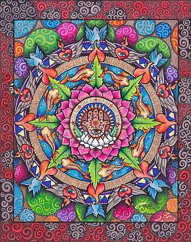 Hamsa Mandala by Julie Oakes