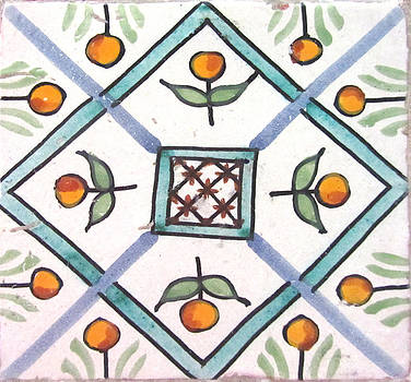 Hand Painted Islamic Wall Tile by Louise Grant