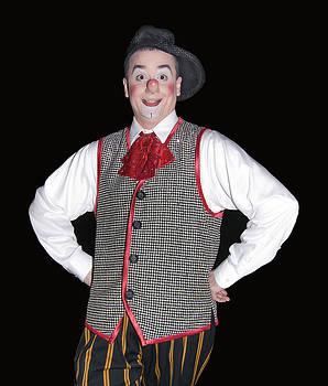 Handsome Clown at the Circus by Susan Leggett
