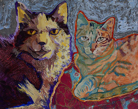 Hangin Out Cat Buddies by Yvonne Gaudet