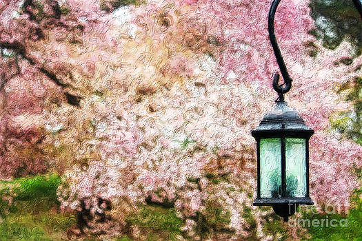Hanging Lamp and Spring Flowers by Nishanth Gopinathan