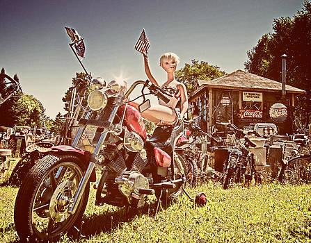 Mary Lee Dereske - Mannequin on Motorcycle