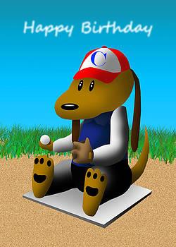 Jeanette K - Happy Birthday Baseball Dog