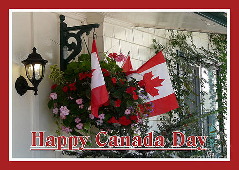Happy Canada Day Floral by Avis  Noelle