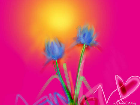 Happy Day Flowers by Maureen Kealy