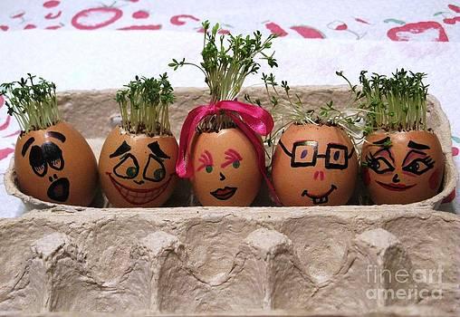 Happy Eggmen Family Easter Series by Ausra Huntington nee Paulauskaite