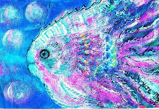 Anne-Elizabeth Whiteway - Happy Fish with Pinks and Blues