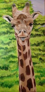 Happy Giraffe by Loretta Orr