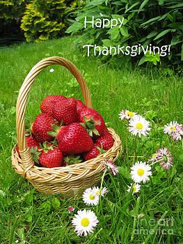 Happy Thanksgiving Card by Ausra Huntington nee Paulauskaite
