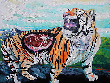 Happy Tiger by Joseph Demaree