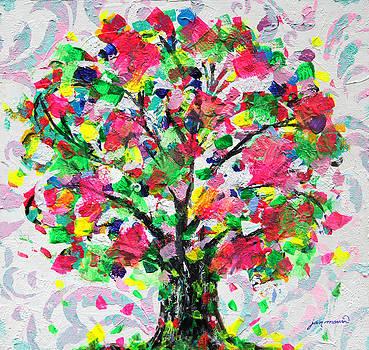 Happy Tree by Jan Marvin by Jan Marvin