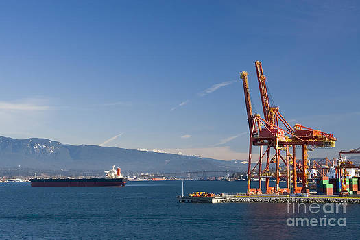 Harbor Cranes by Volodymyr Kyrylyuk