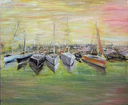 Harbor Drimmelen Holland by Alexander Bukhanov