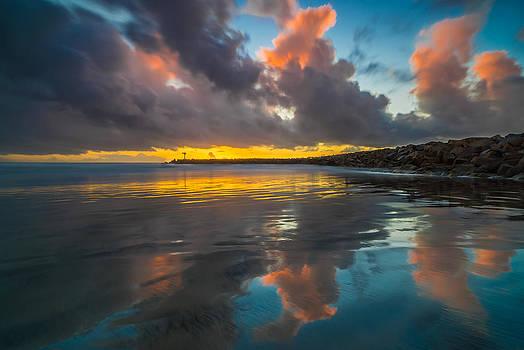 Larry Marshall - Harbor Jetty Reflections