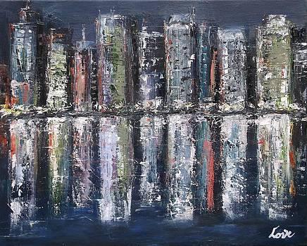 Harbor Night Lights by Joseph Love