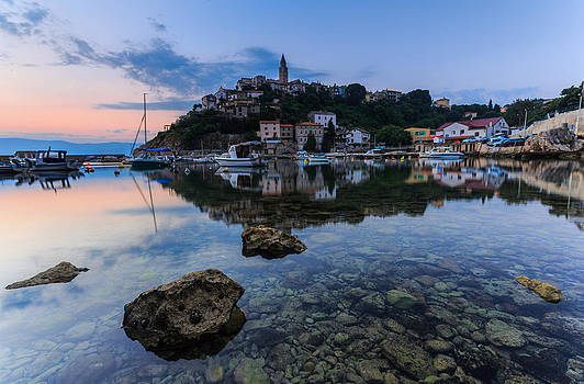 Harbor reflection by Davorin Mance