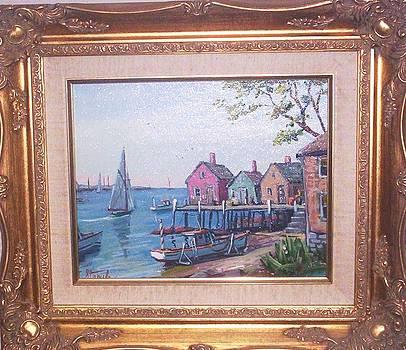 Harbor Scene by Charles Stepule