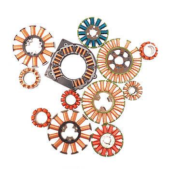 Hard Drive Copper Magnet Coils by Joseph Desmond