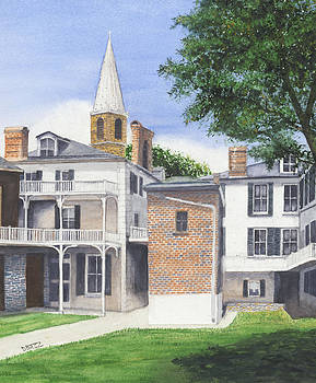 Harpers Ferry Courtyard by Tom Dorsz