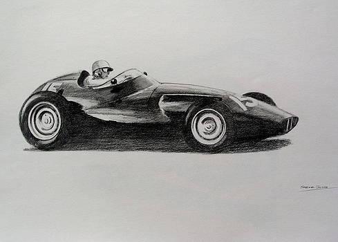 Harry Schell  BRM by Steve Jones