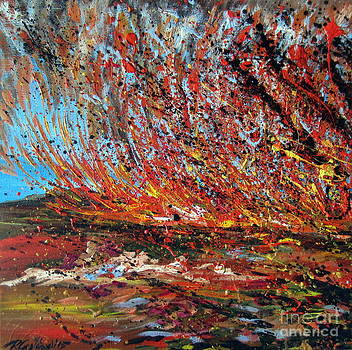 Harsh Desert Fire Australian Abstract by Roberto Gagliardi