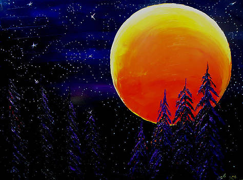 Harvest Moon by Portland Art Creations