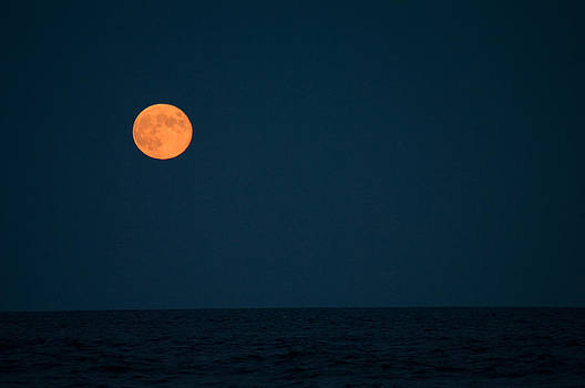 Harvest Moon Over The Atlantic by Greg Graham