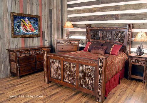 Teshia Art - Haunted Waters - Lodge Bedroom Showcase