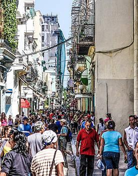 Havana Crowd by Jim Nelson