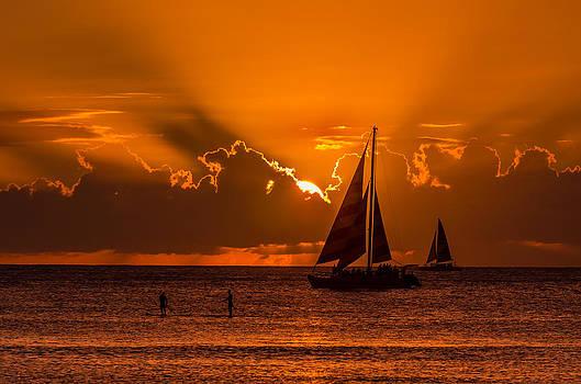 Hawaiian Sunset by RB Art