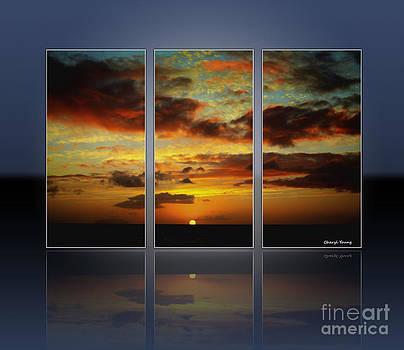 Cheryl Young - Hawaiian Sunset Triptych