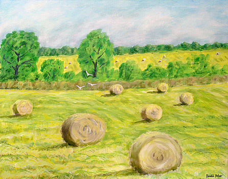 Haystacks - Road to Southport by Ronald Haber