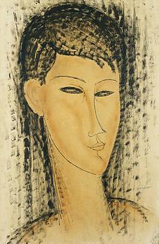 Amedeo Modigliani  - Head of a Young Women