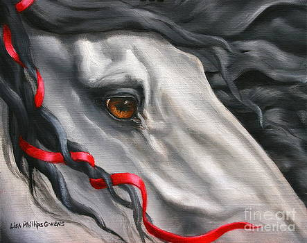 Head Study For THE GATEKEEPER  by Lisa Phillips Owens