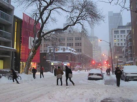Alfred Ng - heading home as snow fall