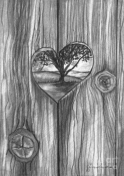 Heart In The Fence by J Ferwerda