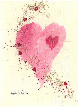 Heart With Golden Thread by Karen Nelson