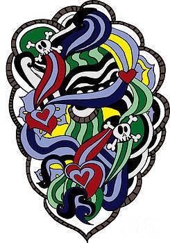 Hearts and Skulls by Mariana Vianna