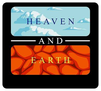 Heaven And Earth Logo One by Patrick Collins