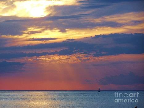Heavenly sunset by Brigitte Emme