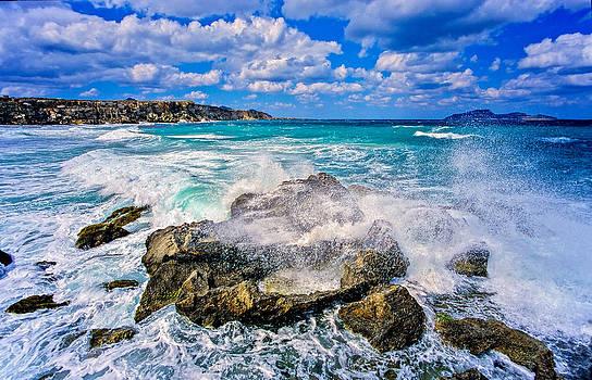 Heavy surf on Favignana island - Sicily  by Martin Liebermann
